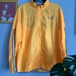 Adidas Climalite Yellow Windbreaker